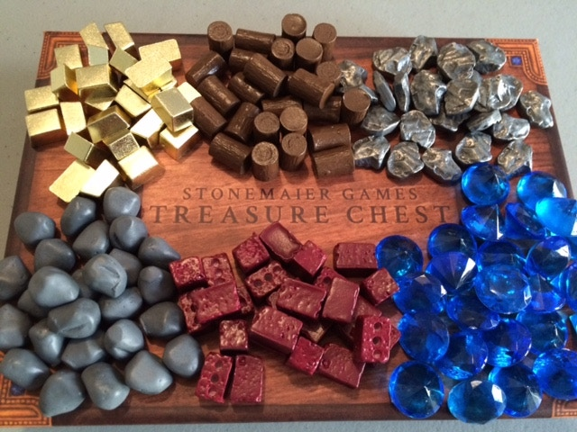 Treasure Chest: Realistic Resource Tokens for Board Games by Jamey