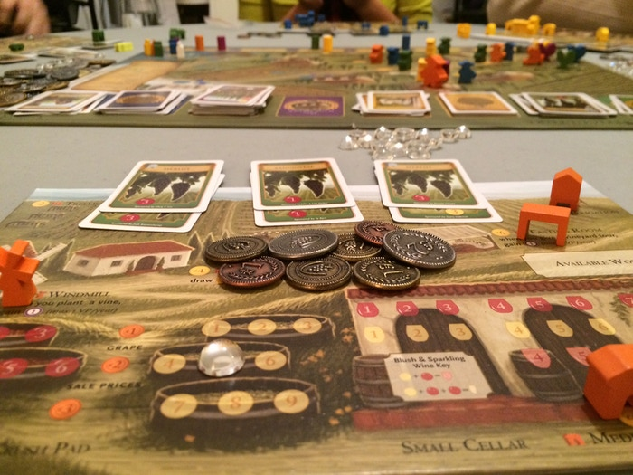 Viticulture is a strategic board game that challenges players to create, cultivate, and expand a vineyard in rustic Tuscany.