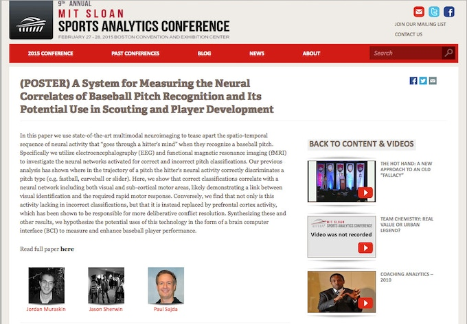 Science behind the deCervo Profiles featured at MIT Sloan Sports Analytics Conference