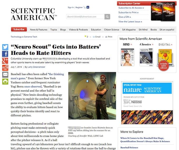 Scientific American explains deCervo's early days