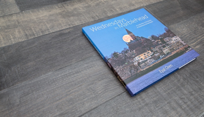 "A beautiful 11"" x11"" 144 page full color coffee table book featuring images of Marblehead, Massachusetts"