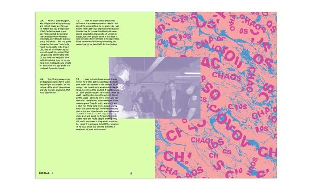 A sample spread from Los Mag!
