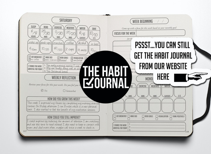 A simple and effective daily journal for recording, measuring and applying lasting habits to help you achieve any goal.