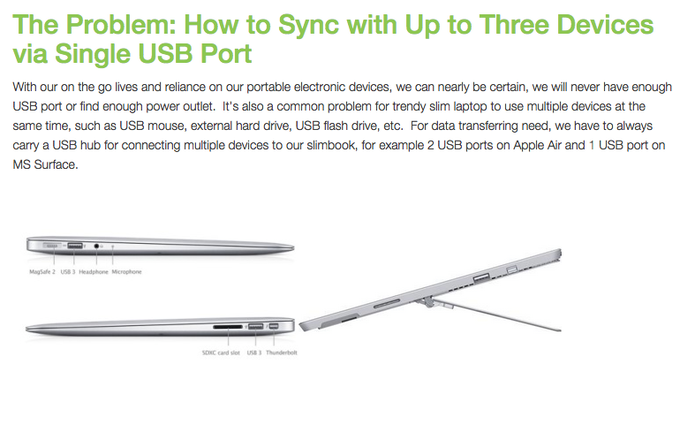 The Problem: How to Sync with Up to Three Devices via Single USB Port