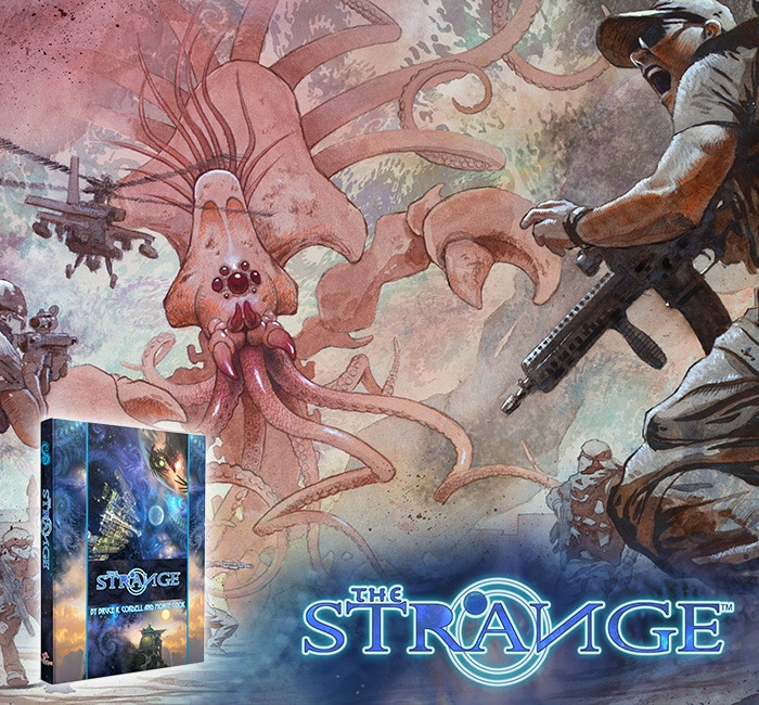 Oz. Barsoom. Asgard. The Dreamlands. The setting of your favorite novel or movie. Worlds even more exotic or bizarre, driven by laws of magic, psionics, or weird science. What will you find when you venture into ... The Strange