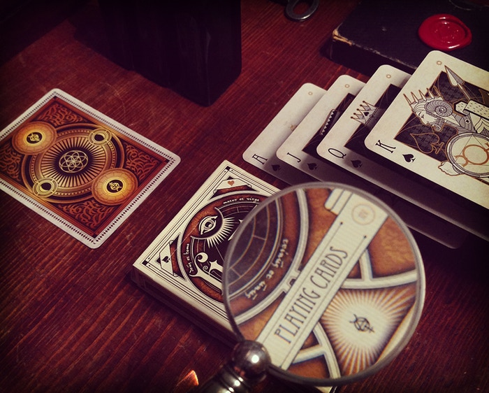 Custom playing cards - Poker Size - Alchemy Theme - Limited Edition. Fulfillment completed, all decks delivered.