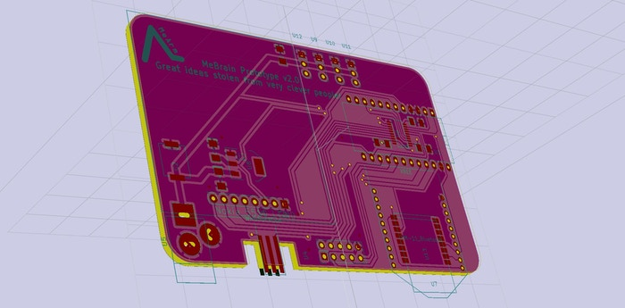 Brains Board V2.0 Prototype PCB Layout - Front