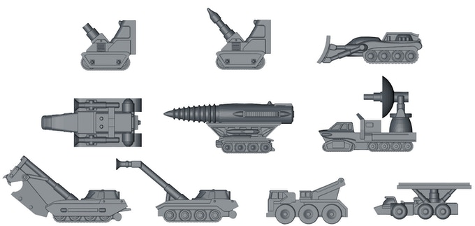 Some of the Pod Vehicles.