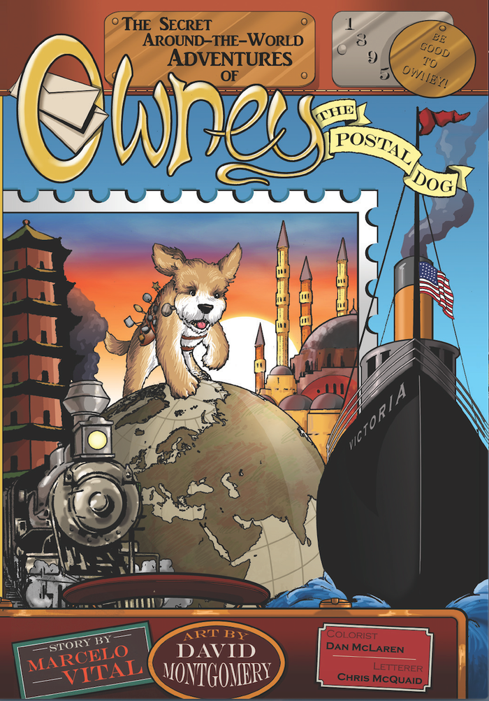 A graphic novel about Owney the Postal Dog and his trip around the world. Join him on his secret travels and adventures.
