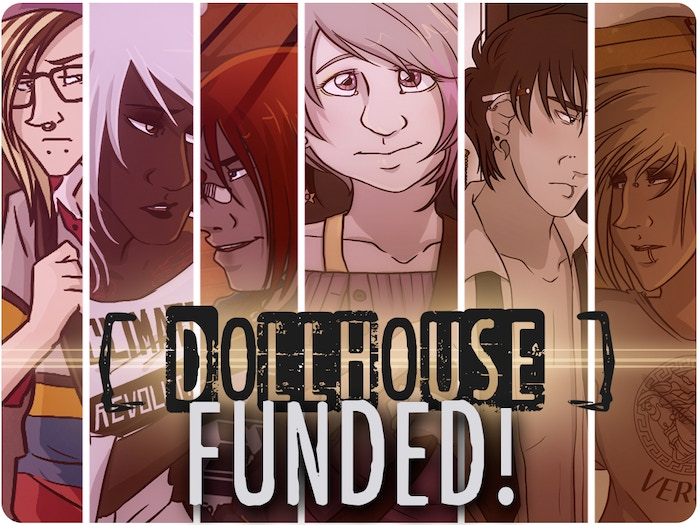 Dollhouse is an on-going comic set in St. Louis. Gateway Songs is the first volume of the comic, chapters 1-4! Let's print this!