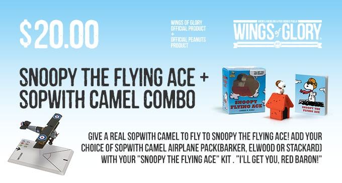 Official Peanuts product by Running Press. Wings of Glory Airplane Pack by Ares Games.