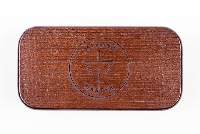 Premium wooden box for Layering master on neodymium magnets