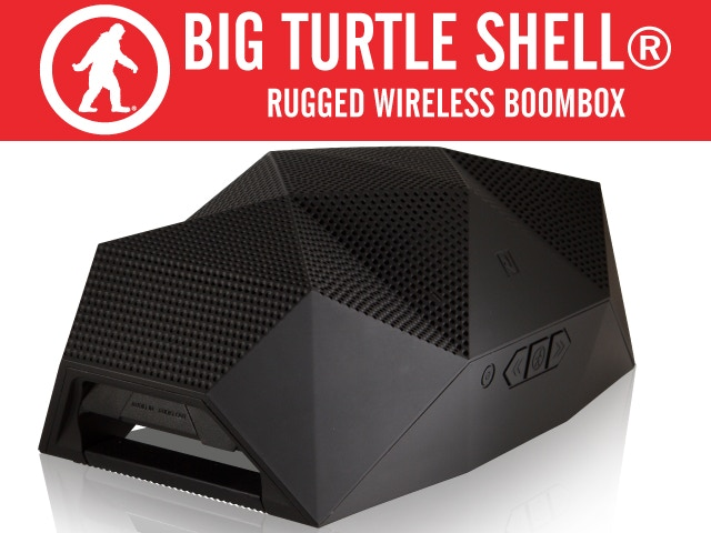 The Big Turtle Shell® is a rugged wireless Bluetooth speaker built for a life of action. Water resistant and durable with a huge sound.