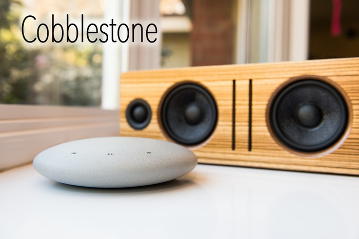 Cobblestone streams music to your sound system. Use your smart phone to control music to any speaker over WiFi. Free your music.