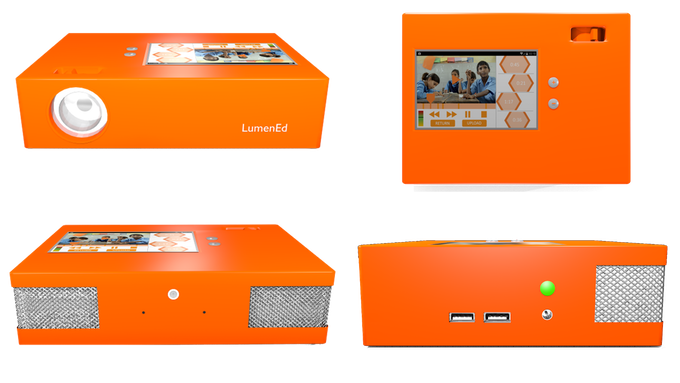 Computer sketches of the Bright Orange Box being developed for the 2015-2016 school year