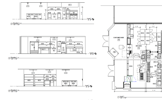 County Health Department-Approved Architectural Plans
