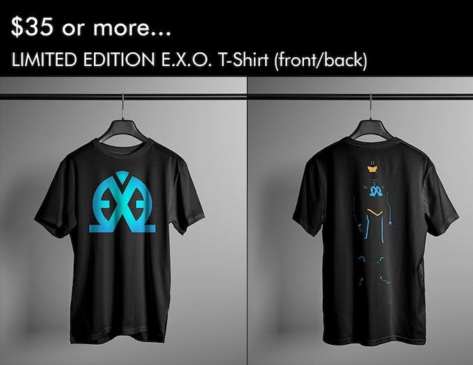 E.X.O. T-Shirt Front/Back