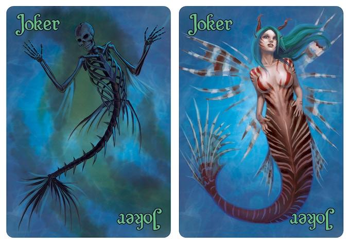 A skeletal mermaid and a lionfish mermaid!