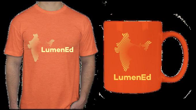 Bright Orange T-Shirt and Mug