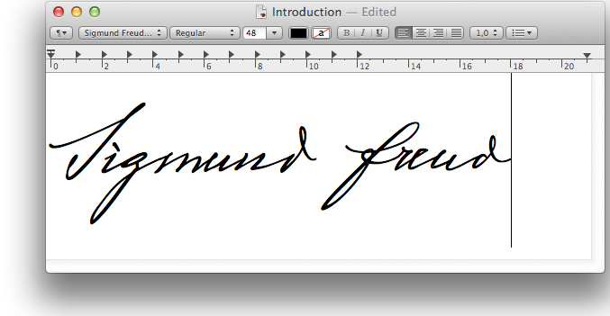 A Letter To Your Shrink Is About Creating Font Based On Sigmund Freuds
