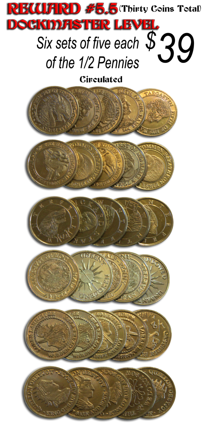 A GAME OF THRONES, Fantasy Gaming Coins, by Shire Post Mint by Shire