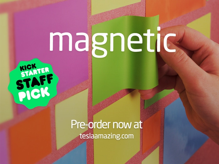 MAGNETIC: Paper That Sticks to Walls by Tesla Amazing
