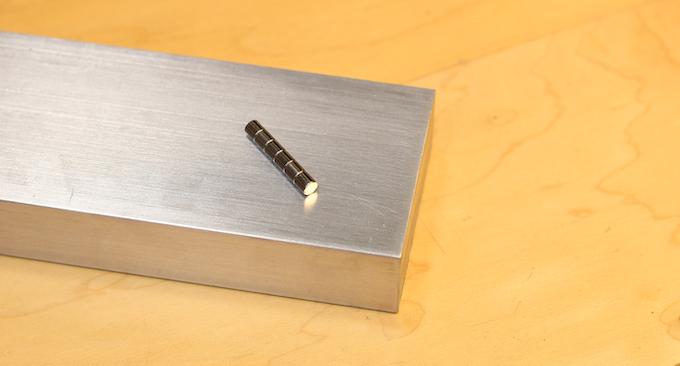 Raw Materials: Aluminum Billet and Neodymium Magnets