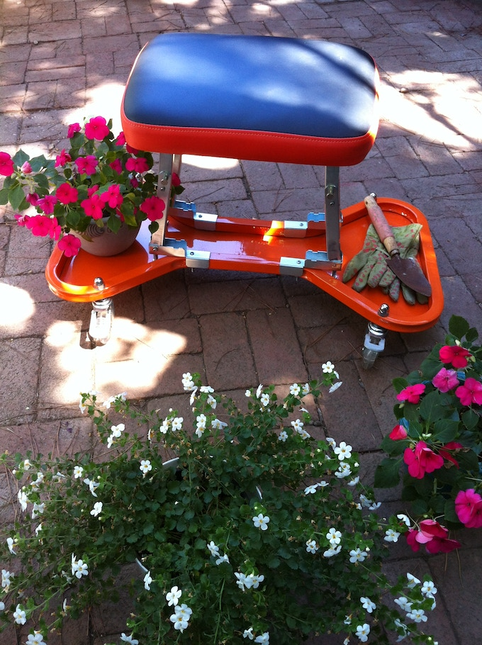 The BumBee Seat is excellent for gardening ... our GardenBee Pledge/Reward includes a special gardening accessory.