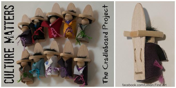 Miniature Cradleboard Babies.