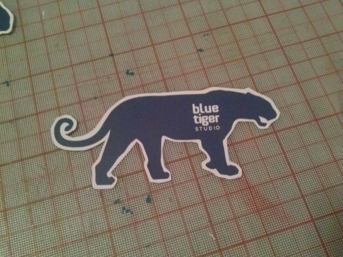 You can get your own Blue Tiger sticker when you back this project.