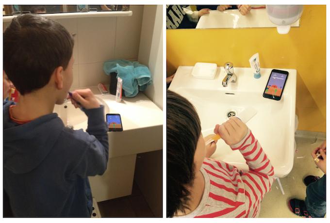 Kids using Playbrush