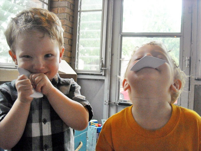 Silas and Owen performing rigorous material testing in 2012