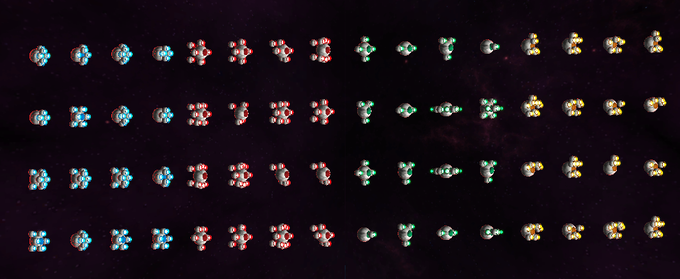 An example of some randomly generated enemies.