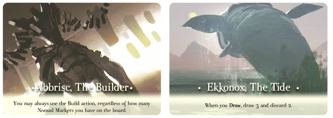 Each Lord also has a unique Devotion card.  If a player has a Lord's Devotion card, he is Devoted to that Lord and gains a passive ability.