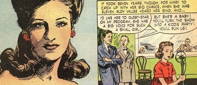 A Mary Small inspired comic book from the 1940's