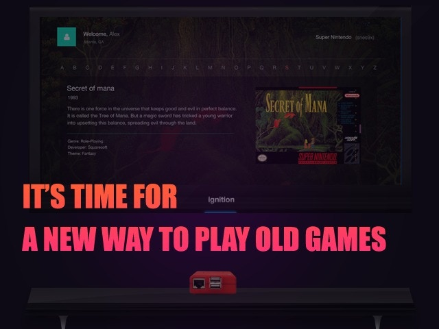 Ignition is a Social Retro Gaming OS with features such as Gaming Achievements, Friends Lists, Online Play, more..