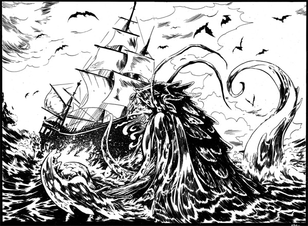 Here there be monsters! From issue 1.