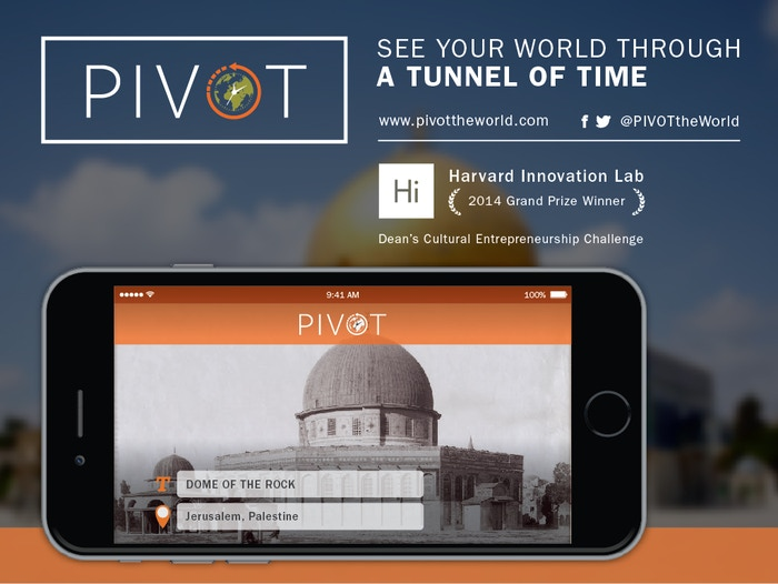 PIVOT is an app that lets you see what a place looked like in the past and digitally streamlines the preservation of culture & history!