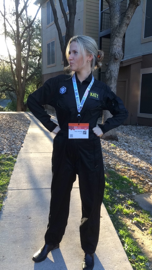 re:3D Flight Suit with patches and custom 3D printed nameplate