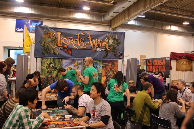 Our busy booth at The Spiel in Essen last year.