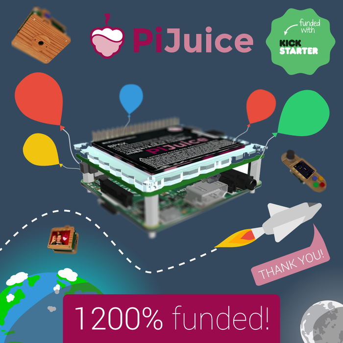 PiJuice is the ultimate module for all portable Raspberry Pi projects (complete with our revolutionary PiAnywhere technology – the best way to take your Pi off the grid!). Includes many fun maker projects and a solar power version too!