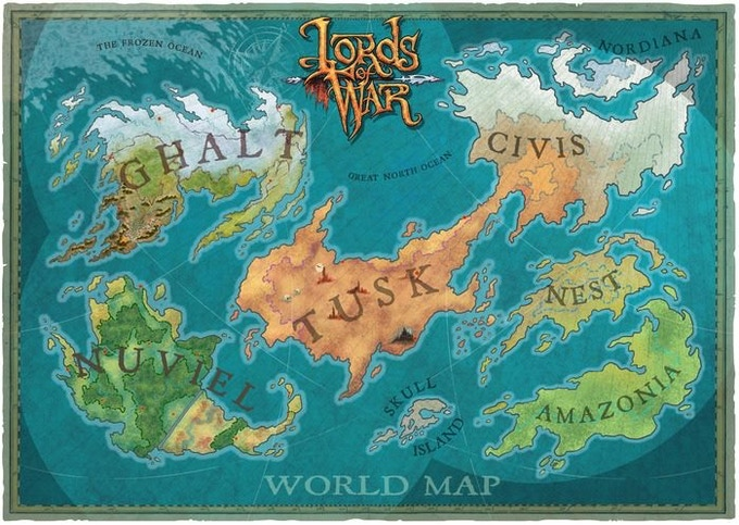 The Lords of War World Map... there's plenty of places we would like to take you!