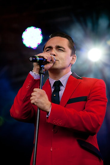 Vman! Ryan rocking the red jacket live on stage in his best known role as Frankie Valli in Jersey Boys
