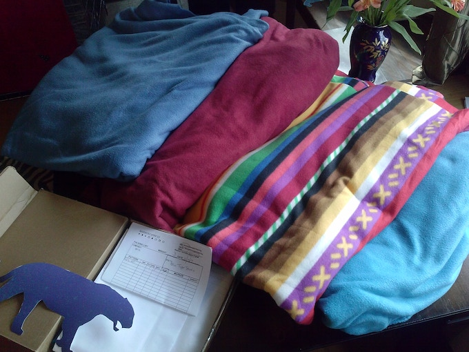 sample fabric and patterns are ready to go