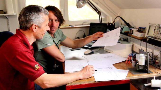 Sebastjan Sitar and Žiga Božič creating SipaDrive
