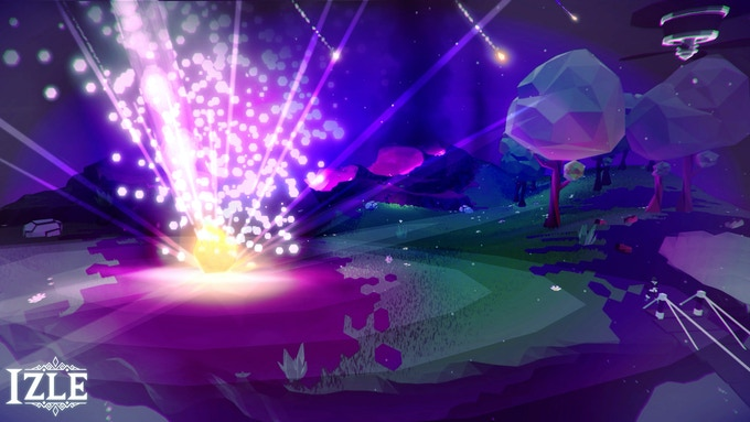 Shadow Meteors destroying an Island