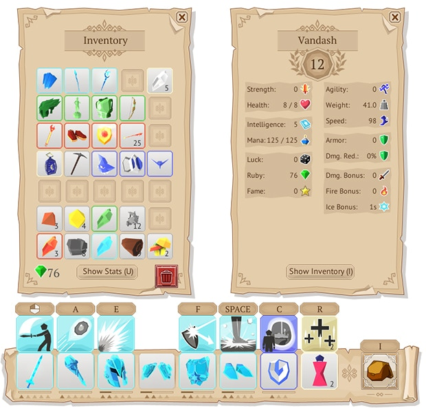 Items will gain experience and level-up