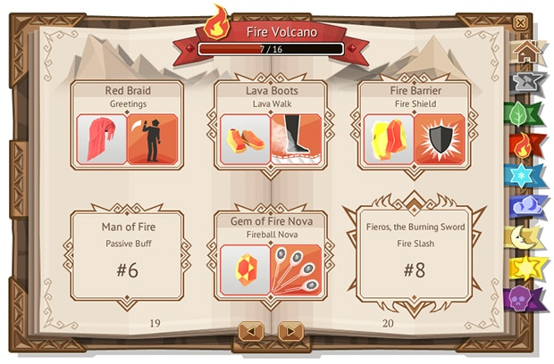 """This """"Achievement Book"""" shows you which item you acquired and which you are missing"""