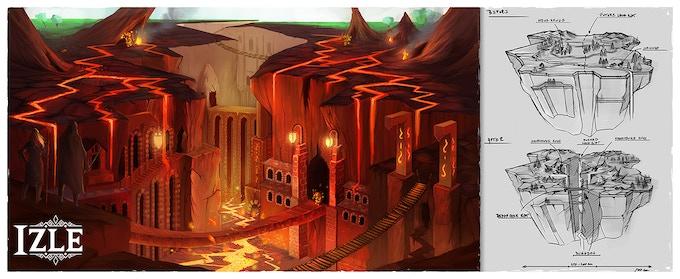 Illustration for the Lava Rift Island