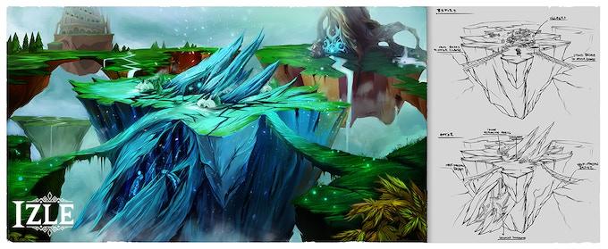 Illustration for the Ice Shard Island